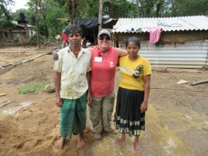 "Me, ""mom and dad"" at the house where we worked 2 days,"